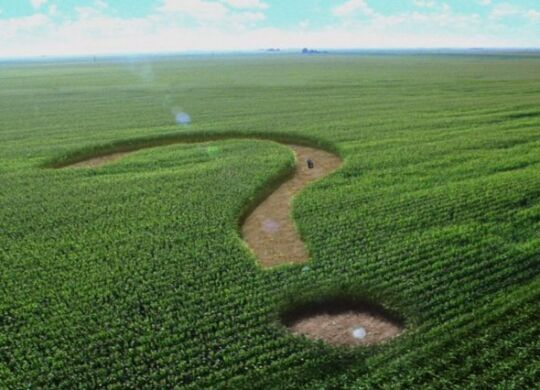 """FILE - This undated file image from a television advertisement provided by the Corn Refiners Association, shows a corn maze shaped like a question mark. The Food and Drug Administration on Wednesday, May 30, 2012 rejected the Corn Refiners Association's bid to rename its sweetening agent """"corn sugar."""" The FDA said that it defines sugar as a solid, dried and crystallized food — not a syrup. (AP Photo/The Corn Refiners Association)"""